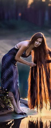 Very long hair with a warm chestnut glow with the evening sun shining through Love Hair, Great Hair, Really Long Hair, Rapunzel Hair, Silky Hair, Beautiful Long Hair, Down Hairstyles, Hair Lengths, Dyed Hair