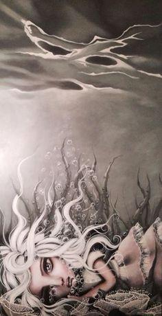 Angelina Wrona Stormy Sea, Weird Art, Simple Art, Surreal Art, Animal Drawings, Dark Art, Lovers Art, Cute Art, Illustration Art