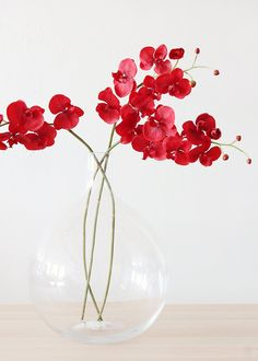 Artificial Phalaenopsis Orchid in Dark Red - Tall SPECIAL - Tropical Wedding - Flowers Tropical Flowers, Tropical Artificial Flowers, Artificial Orchids, Exotic Flowers, Red Orchids, Silk Orchids, Phalaenopsis Orchid, Orchid Centerpieces, Simple Wedding Centerpieces