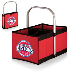 The Detroit Pistons Red Urban Basket by Picnic Time