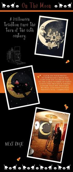 Halloween photo booth: sitting in the moon! AMAZING