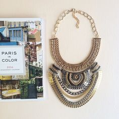 Aztec statement necklace Make a perfect statement With this gorgeous necklace! Multi metal, not heavy at all and very comfortable! Hwl Boutique Jewelry Necklaces