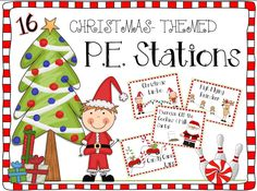 Christmas themed P.E. stations for the elementary physical education class! Fun & cute.