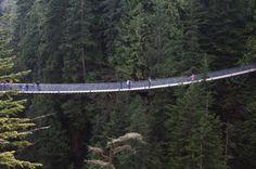 Suspension bridge in Vancouver.