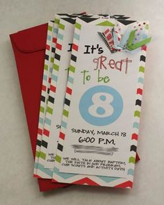 Great to be eight invite idea