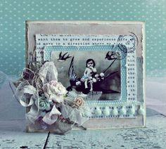 Shabby chic card - Scrapbook.com