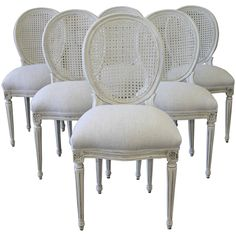 Louis XVI Style Cane Back Dining Chairs | From a unique collection of antique and modern dining room chairs at ...  sc 1 st  Pinterest & Eloquence Louis Dining Chair in a classic Louis XVI style with ...
