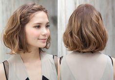 オフモードなセルフヘアアレンジをサロンが伝授。ボブスタイル編(vol.1)-La familia|注目サロン発!最新のアレンジヘア|ヘアスタイル:シュワルツコフ オンライン Cute Hairstyles For Short Hair, Trendy Hairstyles, Short Hair Cuts, Curly Hair Styles, Hair Arrange, Short Wedding Hair, Asian Hair, Mi Long, Great Hair