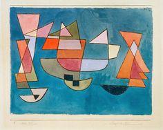 Titre de l'image : Paul Klee - Segelschiffe, 1927, 225.