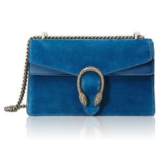 Gucci Dionysus Shoulder Bag in Blue Suede