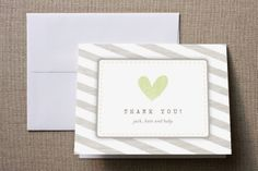 Baby Makes Three Baby Shower Thank You Cards by Jamie Bryant at minted.com