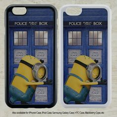 awesome despicable me Minion on Tardis Police Box for iPhone 6-6S Case iPhone 6-6S Plus iPhone 5 5S SE 4-4S HTC Case Samsung Galaxy S5 S6 S7 and Samsung Galaxy Other