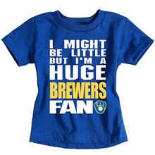 Milwaukee Brewers  Infant Biggest Little Fan T-Shirt by Soft as a Grape