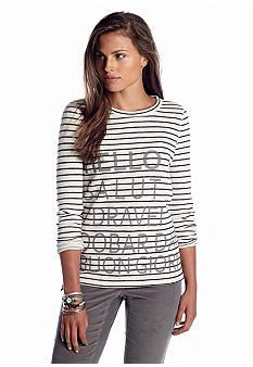 2014 Fall Fashion: Women's Most Wanted List | crown & ivy Fashion Sweatshirt http://effortlesstyle.com/2014-fall-fashion-womens-most-wanted/