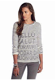 2014 Fall Fashion: Women's Most Wanted List   crown & ivy Fashion Sweatshirt http://effortlesstyle.com/2014-fall-fashion-womens-most-wanted/