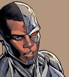 Cyborg in Justice League Odyssey Cyborg Dc Comics, Dc Comics Art, Marvel Dc Comics, Comic Book Characters, Comic Character, Comic Books Art, Comic Art, Univers Dc, Black Comics