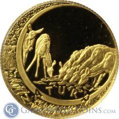 1999/2000 South African 1/10 oz Gold 2 Coin Natura Twin Set http://www.gainesvillecoins.com/