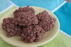 No Bake Cookies  - shredded coconut, raw cacao, coconut oil or butter, almond butter, coconut sugar, vanilla