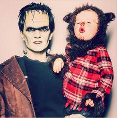 #Frankenstein und ein kleiner #Werwolf sind auch passende Halloweenverkleidungen, #Halloweenschminktipps