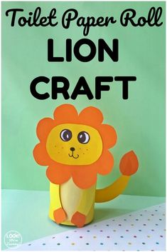 Make this easy toilet paper roll lion craft with the kids for a fun art activity! Great for a jungle unit! Food Art For Kids, Animal Crafts For Kids, Easy Crafts For Kids, Toddler Crafts, Fun Crafts, Simple Crafts, Toilet Roll Craft, Toilet Paper Roll Crafts, Paper Plate Crafts