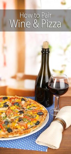 The worst of pizzas can taste like a selection from a fancy pizzeria when enjoyed with the right wine. Here's our tips on how to pair pizza with wine. * More info could be found at the image url. Wine Tasting Party, Wine Parties, Wine And Pizza, Best Wine With Pizza, Traveling Vineyard, Champagne, Wine Education, Wine Guide, Wine Deals