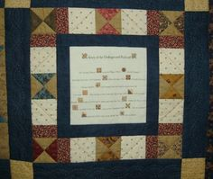 Quilt block explains some of the patterns used in an Underground Railroad quilt