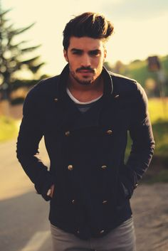 Mariano Di Vaio - great jacket...wish my hair could do that too!
