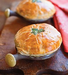 Use up all of your holiday dinner leftovers to make these little turkey pot pies!
