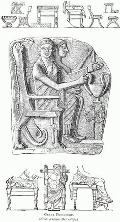 ancient greece illustration from illustrated history of furniture from the earliest to the present time ancient greek furniture