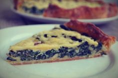 Quiche Lorraine with spinach and bacon Quiche Lorraine, Bagel, Spinach, Bread, Cooking, Recipes, Food, Kitchen, Kochen