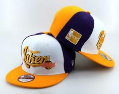 $8.00 NBA Los Angeles Lakers Stitched New Era 9FIFTY Snapback Hats 041