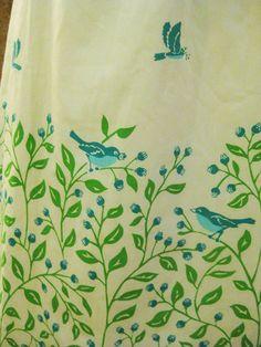 Detail VG Bluebirds of Happiness on Vintage Sheath Dress M L  14 #ModCloth #ShirtDress