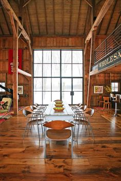 """Converted Barns Design, Pictures, Remodel, Decor and Ideas....1800s bank barn into a """"party barn"""" to host gatherings of friends and family"""