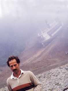 Werner Herzog in the jungle filming Fitzcaraldo.