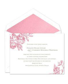 Antique Roses Invitations - William Arthur (#115524) |  FineStationery.com