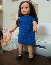 "Ravelry: Eugenie Lace Dress for Gotz and other 18"" dolls pattern by Pamela Elliott"
