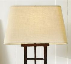 Burlap Rectangular Lamp Shade #potterybarn