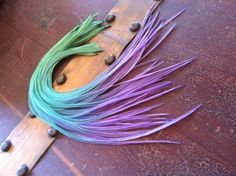 I want these!  Real Hair Feather Extensions colorful tie dyed by PrettyVagrant, $7.75