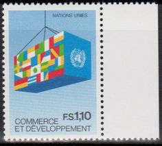 United Nations postage stamp commemorating Commerce and Development.