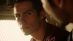 Dylan (Stiles) looking at Tyler H (Derek) on Teen Wolf :))))))) tumblr alpharogerrs