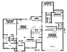 Country European French Country House Plan 67146 Level One