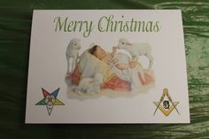 OES and Masonic Christmas Note Card by OlsenEnterprises on Etsy, $10.00