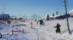 quibbll.com - Художник Якуб Розальский (Jakub Rozalski): «Очень суровая зима»