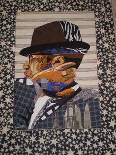 Bisa Butler: African American Quilter Extraordinaire Malcolm X African American Artwork, African American Culture, American Artists, African Quilts, Black Love Art, Art Base, Textiles, Black Artists, Fabric Art