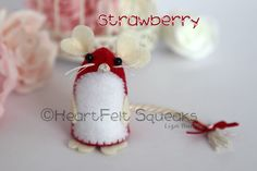 """HeartFelt Hoots - Limited Edition Valentines Collection;   """"Strawberry""""  Details over at  Heartfelt Hoots facebook page."""