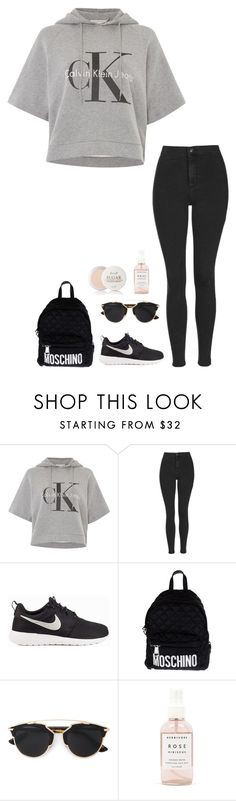 """Untitled #473"" by h1234l on Polyvore featuring Calvin Klein, Topshop, NIKE, Moschino, Christian Dior, Herbivore Botanicals, Fresh, women's clothing, women's fashion and women"