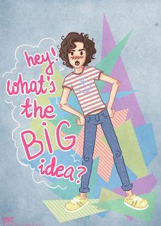 """What's the big idea?"""" fan art by ~jjonc on deviantART Mika Lyrics, Mika Songs, Music Love, Art Music, Mika Penniman, What's The Big Idea, Cartoon Man, Tsundere, Disney Fan Art"""