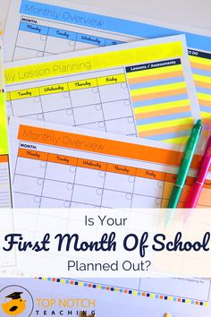 Having the first month of school planned out makes that first month a whole lot easier. So let's take a closer look at how to plan for that first month. Fun Classroom Activities, Back To School Activities, Classroom Ideas, Classroom Inspiration, Teaching Posts, Teaching Tips, Teaching Art, Classroom Organisation, Teacher Organization