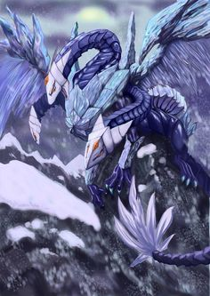 Trishula dragon of the ice barrier Magical Creatures, Fantasy Creatures, Yugioh Dragons, Subject Of Art, Ultimate Dragon, Yugioh Monsters, Dragon Artwork, Game Concept Art, Fantasy Monster