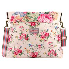 Spray Flowers Reversible Folded Messenger Bag